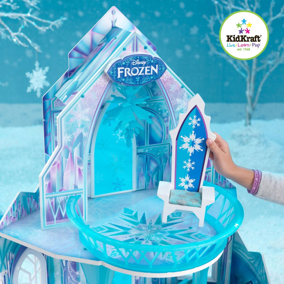 kidkraft disney frozen ice castle dollhouse ebay