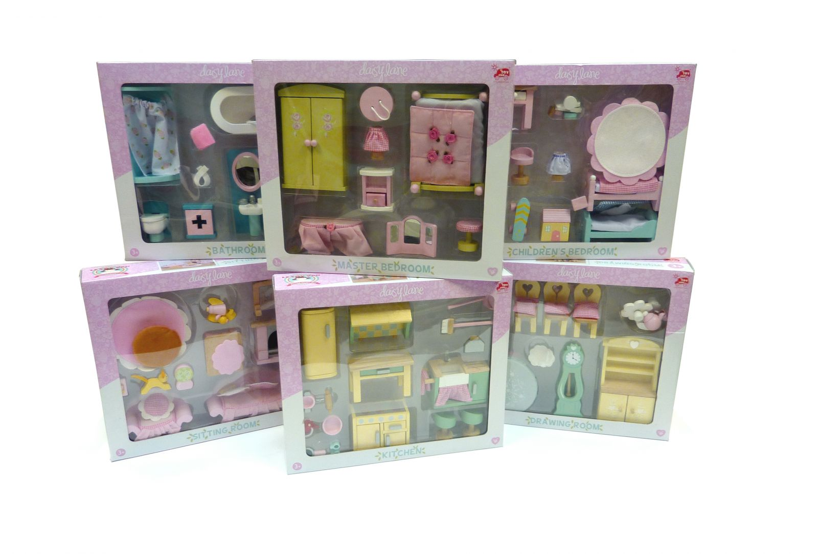Le Toy Van Victoria Place With Daisy Lane Furniture And Dolls  # Muebles Long Lane